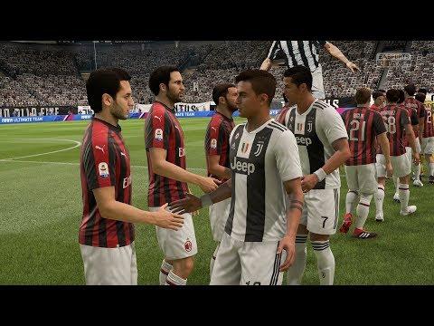 FIFA 19   Juventus vs AC Milan - Allianz Stadium - (Full Gameplay Xbox One X)