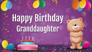 Flowers, hugs & kisses to wish your granddaughter a Happy Birthday
