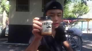 青空の下でおいしいコーヒーと高級アイスDeliciouscoffeeandhigh-qualityice