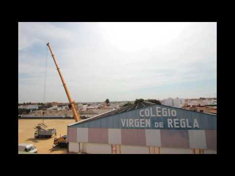 Finalización de las obras de la cubierta del pabellón del Colegio Virgen de Regla.