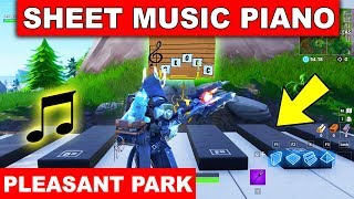 """""""Play the Sheet Music on the Pianos near Pleasant Park"""" LOCATION WEEK 2 CHALLENGE Fortnite Season 7"""