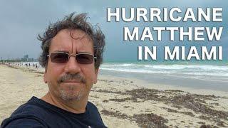 Hurricane Matthew in Miami, Florida 4K    Traveling Robert