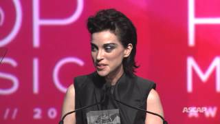 St. Vincent Accepts the Vanguard Award - 2015 ASCAP Pop Music Awards