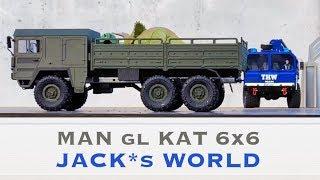 HELIFAR RC Militär Truck 1:16 6WD Ferngesteuerter LKW MAN gl 6x6