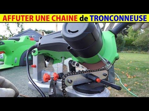 affuter une chaine de tronçonneuse avec affuteuse electrique affutage machine oregon stihl lidl