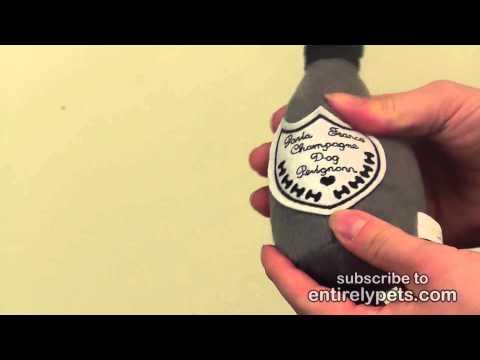 Dog Perignonn Champagne Bottle Plush Toy - Small Video