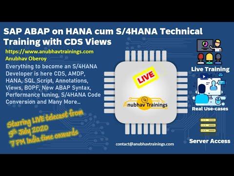S4 HANA Developer Course | S4HANA Training | S4 HANA Tutorial ...