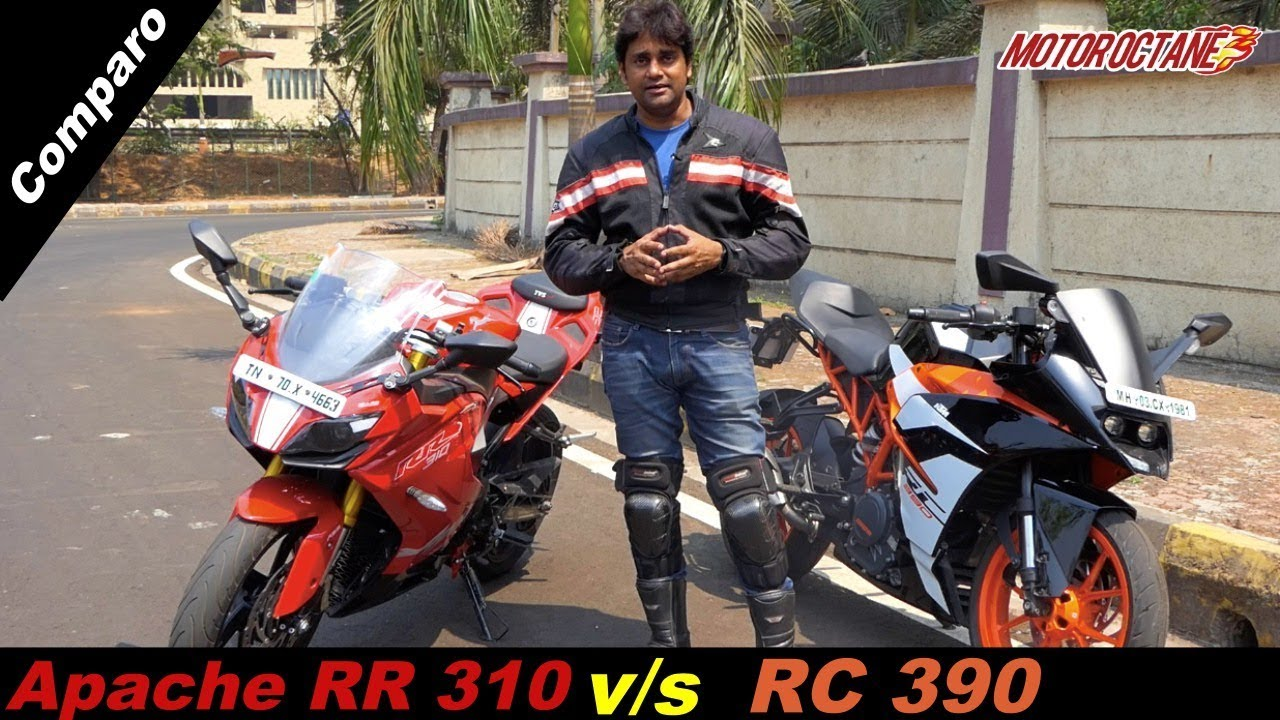 Motoroctane Youtube Video - KTM RC 390 vs TVS Apache RR 310 Comparison in Hindi | MotorOctane
