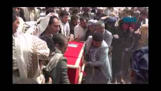 preview picture of video 'Funeral ceremony held for Yemen mosque attack victim in Sanaa'