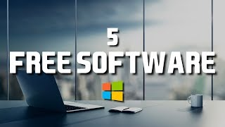 5 Free Software That Are Actually Great! 2018