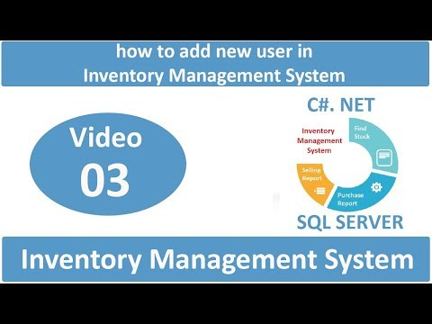 how to add new user in Inventory Management System in C#