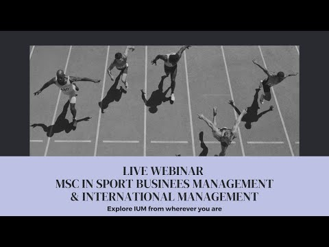 Live Webinar MSc in Sport Business Management & International Management