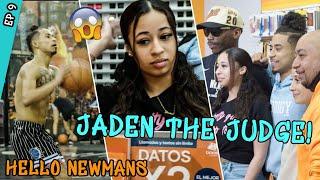 Jaden Newman Becomes A TRICK SHOT Judge With Metta World Peace! Julian Newman Prepares For Australia