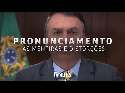 Vídeo expõe mentiras e distorções de Bolsonaro em pronunciamento