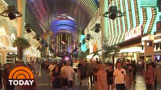 Swarms Of Grasshoppers Invading Las Vegas Strip   TODAY
