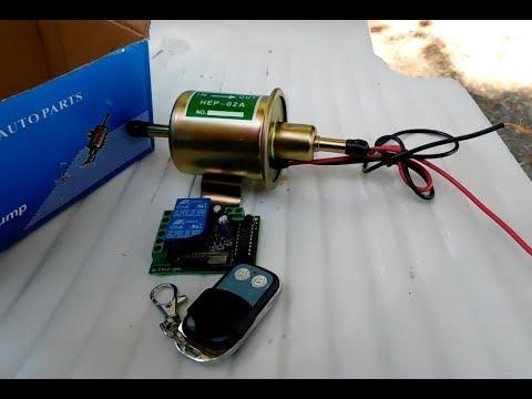 Telecomando a due canali per pompa gasolio