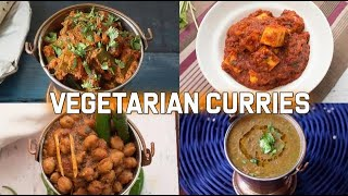 4 Dhaba Style Curries (Vegetarian)  | Vegetarian Recipes | Dhaba Style Recipes