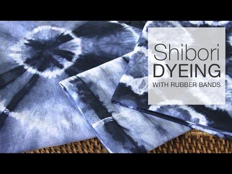 Shibori Tie-Dye with Rubber Bands