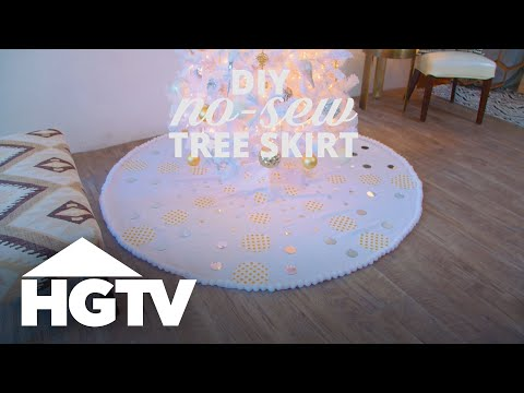 Make a No-Sew Christmas Tree Skirt From a Tablecloth - HGTV