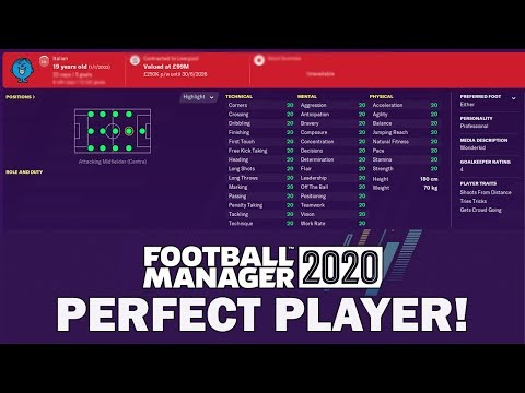 I Created A PERFECT Player On Football Manager 2020 And This Happened… | FM20 Experiment