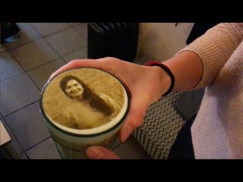 So druckt ein Berliner Café Bilder auf Cappuccino