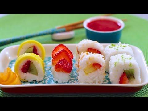 Fresh Fruit Sushi Dessert (Vegan & Dairy-Free Recipe) – Gemma's Bigger Bolder Baking Ep. 52