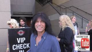 Rudy Sarzo talks about Quiet Riot outside Lucky Strike Bowling in Hollywood