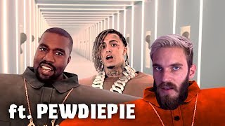 Kanye West & Lil Pump   I Love It (but PewDiePie Is Rapping)