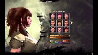 Guild Wars 2 — girl gaming  — #1. Девушка создает персонажа
