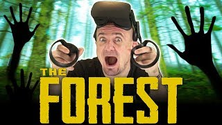 THE FOREST IN VIRTUAL REALITY! | The Forest VR Beta Gameplay