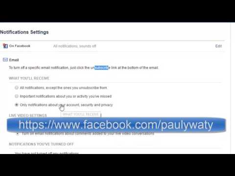 How to turn off email notifications from Facebook