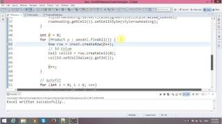 Write Excel File in Java with Apache POI