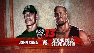 WWE '13: John Cena vs Stone Cold - Gameplay from Raw 1000