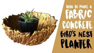 DIY: Make A Golden Birds Nest Planter Using Fabric