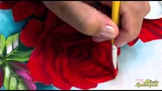 Pintando em 5 Minutos – Rosas Fluorescentes