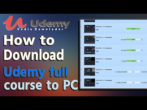 How to Download Udemy full course to PC  | Download Udemy video Course in One Click