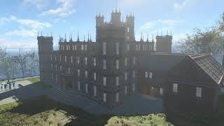 Fallout 4 Sunshine Palace Reloaded - the model is Downton Abbey