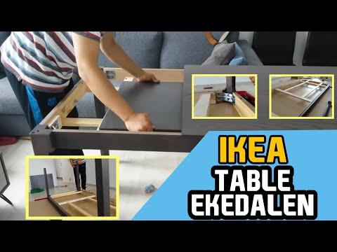 EKEDALEN IKEA UITSCHUIFBARE TAFEL DONKERBRUIN 203.407.58