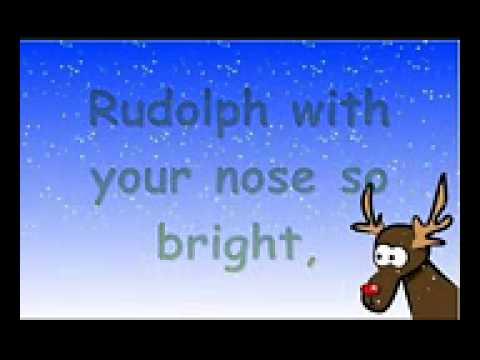 Rodolfo el reno canción en ingles