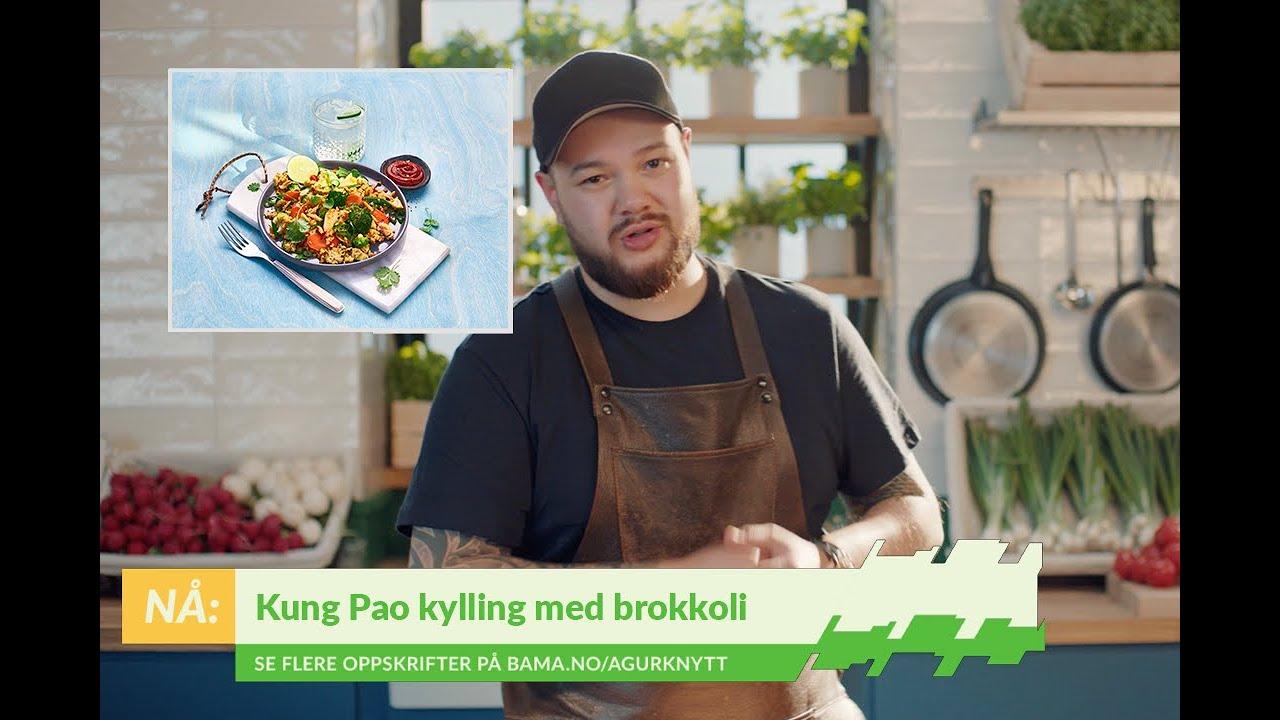 Spennende Kung Pao med kylling og brokkoli