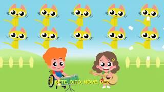 Vamos Aprender A Contar   Clipe Música Infantil • ENZO E VALENTINA ( Cão Amigo ) ( Gato Amigo )
