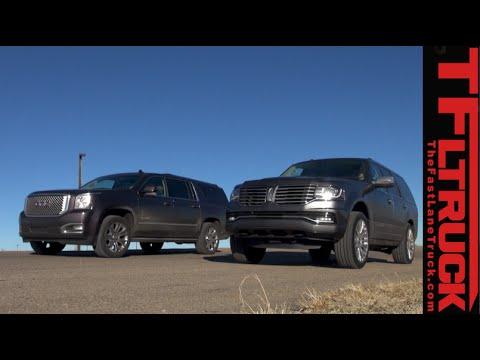 2015 Lincoln Navigator vs GMC Yukon XL: 0-60 MPH Drag Race & Review