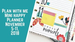 Plan With Me- Mini Happy Planner- November 5-11, 2018