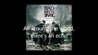 Eminem - Bad Meets Evil - Echo lyrics (Dirty/Explicit)