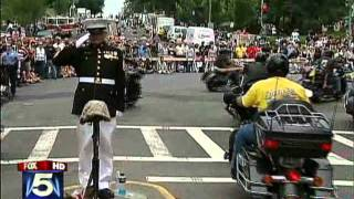 Marine Honors Military at Rolling Thunder 2011