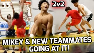 Mikey Williams & New Teammates COMPETE In Intense 2v2! Mikey Dunked On His Boy!? 😬