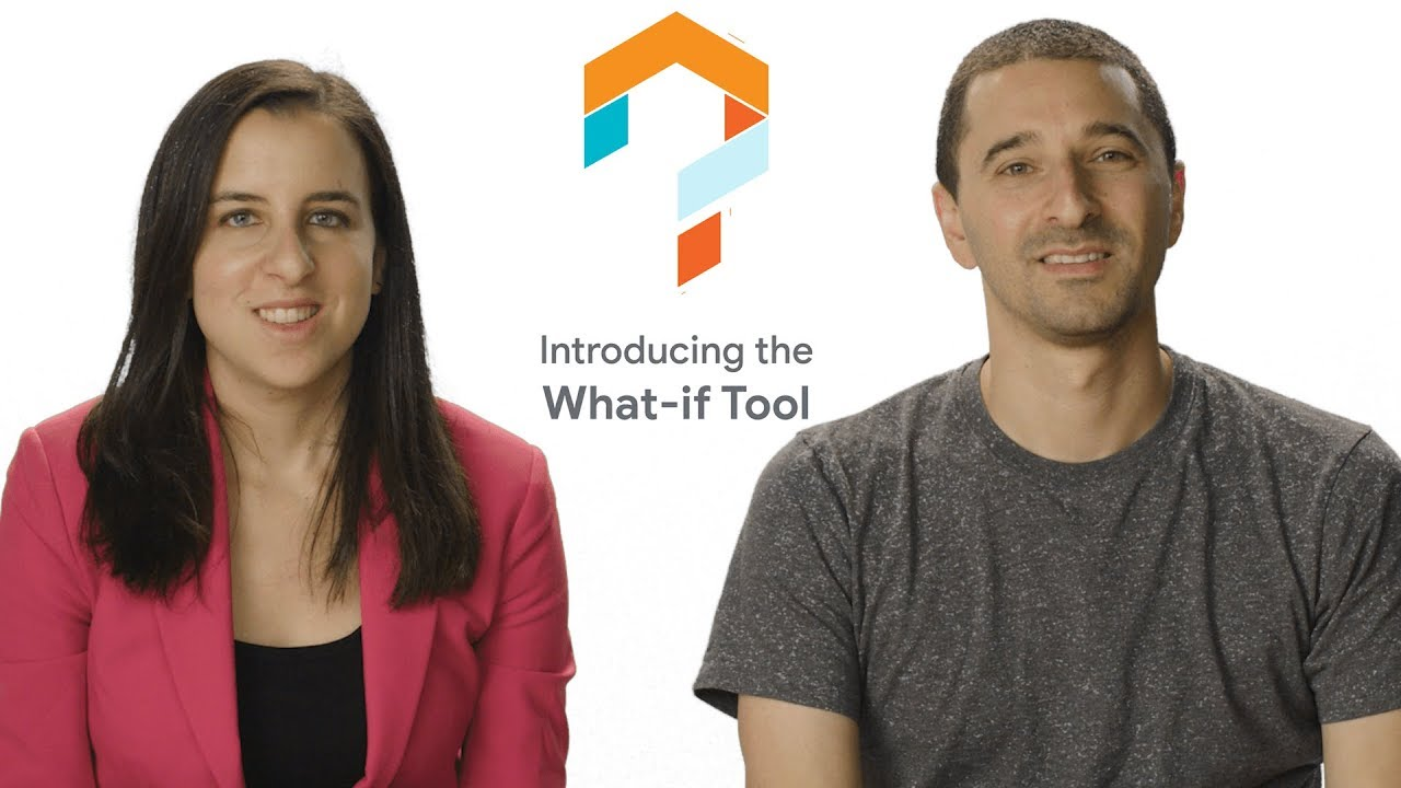 A video of two people sitting at a desk talking about building responsible AI tools with TensorFlow.