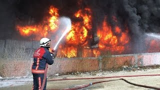 bayrampaşada ayakkabı imalathanesinde yangın
