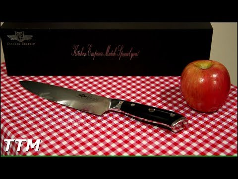 Kitchen Emperor Damascus Steel Chef's Knife Review