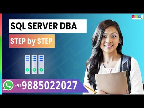 microsoft sql server dba tutorial Videos || SQL SERVER TRAINING ...